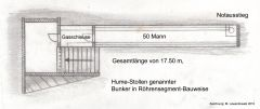 Grundriß des Bunkers